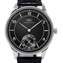 IWC Portuguese Hand-Wound Steel 44mm Black