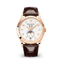 Patek Philippe Annual Calendar Rose gold 38.5mm Silver