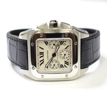 Cartier Santos 100 Chronograph 41mm Stainless Steel Watch on...