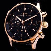 Sinn Finanzplatzuhr 18kt. Rosegold GMT Chronograph Automatic Date