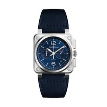 Bell & Ross BR 03-94 Chronographe BR0394-BLU-ST/SCA New Steel 42mm Automatic