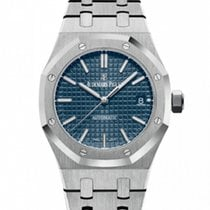 Audemars Piguet Steel Automatic Blue No numerals 37mm new Royal Oak Selfwinding
