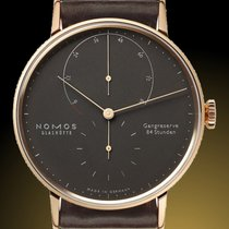NOMOS Rose gold Manual winding Brown No numerals 39mm new Lambda
