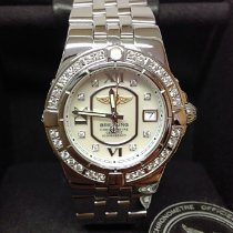 Breitling Steel Quartz Mother of pearl No numerals 30mm pre-owned Galactic 30
