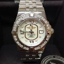 Breitling Galactic 30 pre-owned 30mm Mother of pearl Date Steel