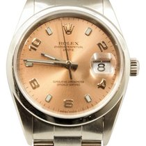 Rolex Oyster Perpetual Date Acier 34mm Rose Arabes France, Bordeaux