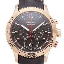 Breguet Type XX - XXI - XXII Rose gold 44mm Brown Arabic numerals
