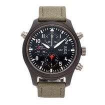 IWC Pilot Chronograph Top Gun Titanium 46mm Black Arabic numerals