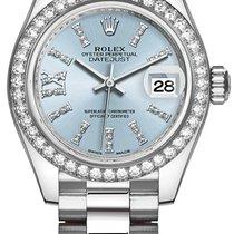Rolex Platinum Automatic Blue No numerals 28mm new Lady-Datejust