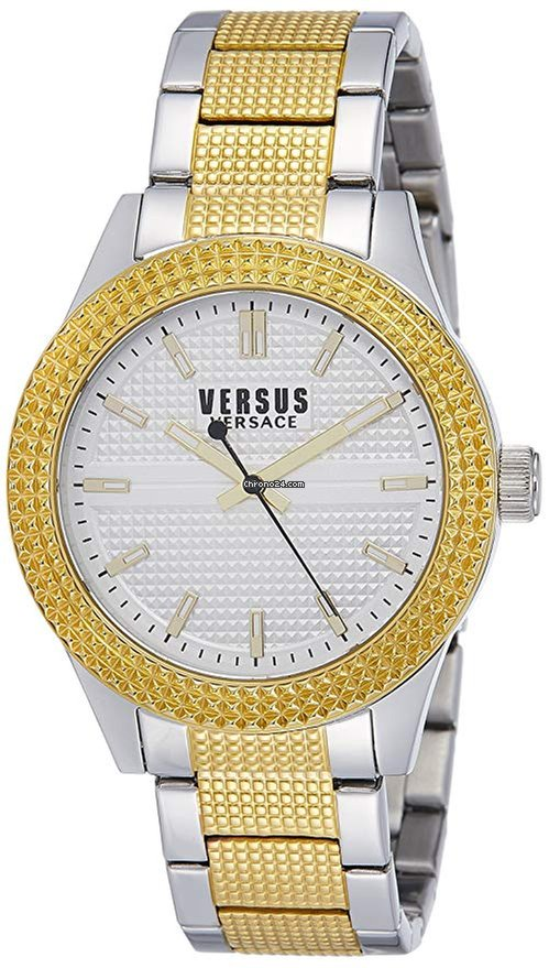 e31c09cf16 Versace Versus by Versace Women's SOJ110015 Bayside Analog Display Quartz  Two Tone Watch