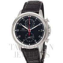 IWC Portuguese Yacht Club Chronograph pre-owned 45.4mm Black Chronograph Flyback Date Fold clasp