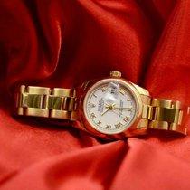 Rolex Lady-Datejust Жёлтое золото 27mm Белый Римские