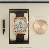 Patek Philippe Perpetual Calendar Chronograph Rose gold 41mm Silver United States of America, New York, Airmont