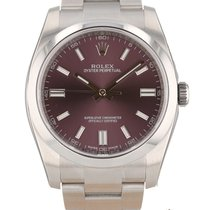 Rolex Oyster Perpetual 36 Stahl 36mm Rot