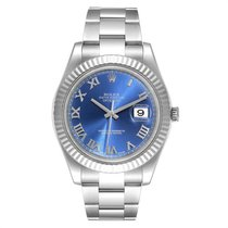 Rolex Datejust II Acél 41mm Kék Római