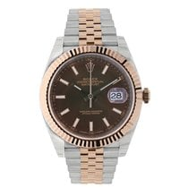 Rolex DATEJUST 41mm Steel & 18K Rose Gold Chocolate Dial 126331