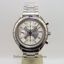 Omega Speedmaster Date Steel 37mm Silver No numerals