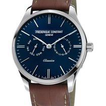 Frederique Constant Manufacture Classics Blue Dial Brown Strap...