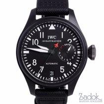 IWC Big Pilots Top Gun Black Ceramic Automatic Watch 7 Day...