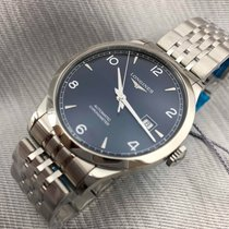 Longines Record L2.821.4.96.6 Longines RECORD Cronometro Blu Acciaio 40mm new