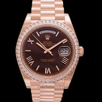 Rolex Day-Date 40 Rose gold 40mm Brown United States of America, California, San Mateo