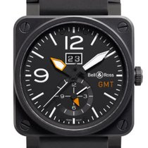 Bell & Ross BR 03-51 GMT new 2019 Automatic Watch with original box and original papers BR03-51GMT