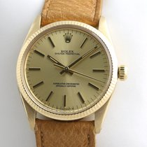 Rolex Oyster Perpetual 34 Oro giallo 34mm Champagne