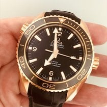 Omega Rose gold Automatic Black No numerals 45.5mm new Seamaster Planet Ocean