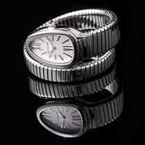 Bulgari Steel Quartz Silver 35mm new Serpenti