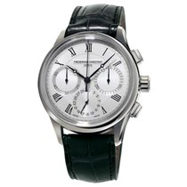 Frederique Constant Manufacture occasion 42mm Blanc Chronographe Cuir