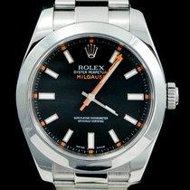 Rolex Milgauss Acier 40mm Noir Sans chiffres