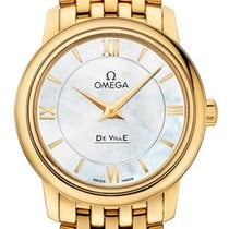 Omega De Ville Prestige Yellow gold 27.4mm Mother of pearl