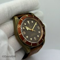 Tudor Bronze Automatic Brown Arabic numerals 43mm pre-owned Black Bay Bronze