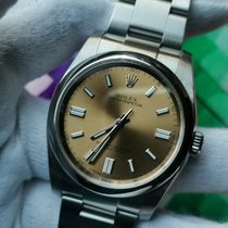 Rolex Oyster Perpetual 36 Steel 36mm Champagne Arabic numerals