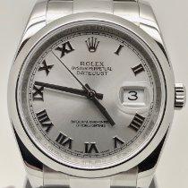 Rolex Plata Automático Plata 36mm usados Datejust
