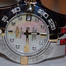 Breitling Galactic 30 pre-owned 30mm Mother of pearl Date Leather