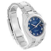 Rolex Datejust Steel Blue Roman Dial Oyster Bracelet Mens...