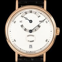 Breguet Rose gold Automatic Silver Roman numerals 36mm pre-owned Classique