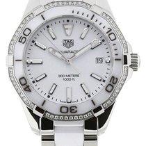 TAG Heuer Aquaracer White Dial 60 Diamonds Ceramic Women Watch...