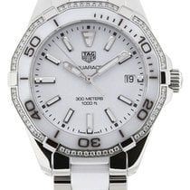 TAG Heuer Aquaracer White Dial 60 Diamonds Ceramic Women Watch...