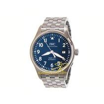 IWC Pilot Mark nuevo Automático Reloj con estuche y documentos originales IW327016 IWC Pilot's Prince Petit Data Acciaio Blu 40mm