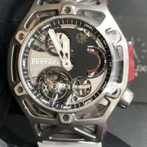 恒寶 Techframe Ferrari Tourbillon Chronograph 408.NI.0123.RX 全新 鈦 手動發條