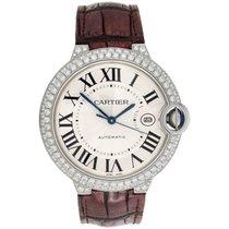Cartier Ballon Bleu De Cartier 42mm Mens Silver Dial Diamond...