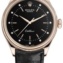 Rolex Cellini Time Rose gold 39mm Black United States of America, New York, Airmont