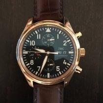 IWC Fliegeruhr Chronograph Roségold 42mm Schwarz Arabisch Schweiz, Zürich