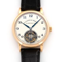 A. Lange & Söhne Red gold Manual winding Silver 39.5mm pre-owned 1815