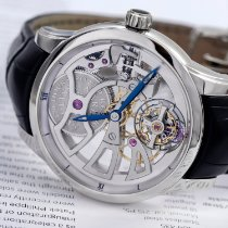 Ulysse Nardin Platinum Transparent No numerals 44mm pre-owned Classic Skeleton Tourbillon