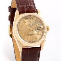 Rolex Yellow gold Automatic Champagne No numerals 36mm pre-owned Day-Date 36