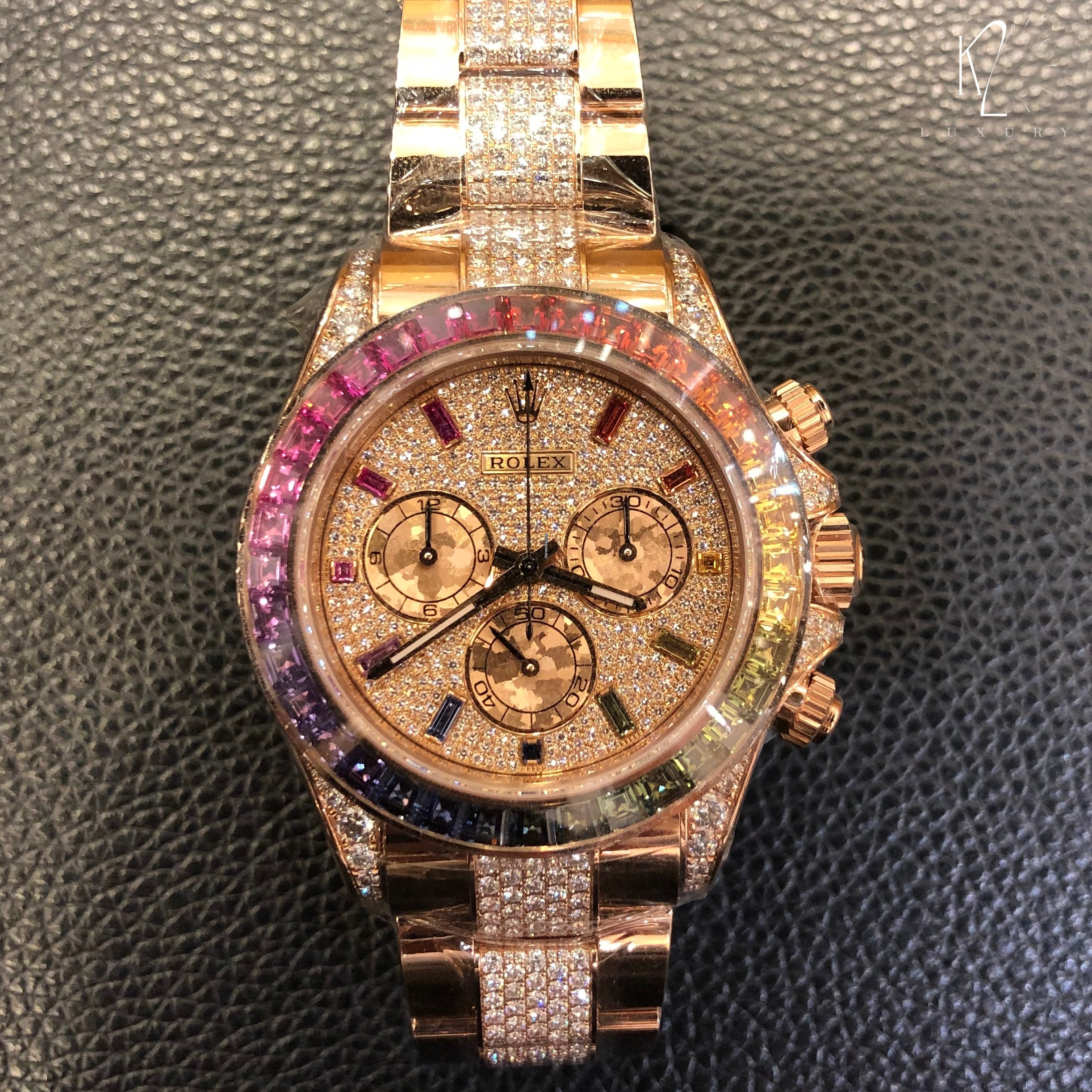 Rolex Daytona Rainbow in Everose Pave Diamond Dial , 116595RBOW