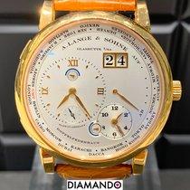A. Lange & Söhne Lange 1 occasion Argent Date GMT Boucle ardillon